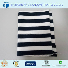 custom stripe print cotton jersey knitted fabric for jersey,dress,garment