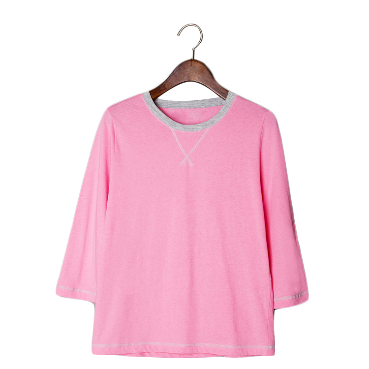 f58f9bc822a9a Get Quotations · 2015 summer style Original Design Women tshirt Linen  Pullover Purple white t shirt Ladies Solid Long