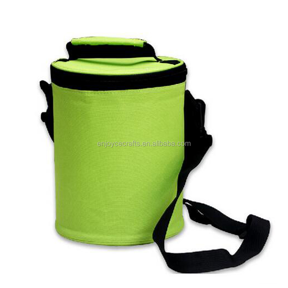 factory wholesale cheapest round shape thermal kid's lunch cooler bag