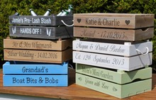 Personalised Apple Crate /Wooden / Planter Bushel Box / Wedding Crate