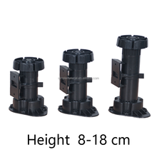 Adjustable plastic legs for kitchen furniture legs