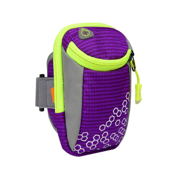 2017 trending logo printed sport fabric arm bag armband pouch