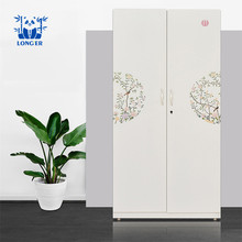 Chinese bedroom furniture wardrobe armoire closet designs modern cheap metal steel wardrobe cabinet