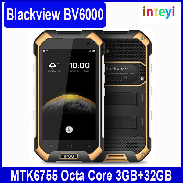 EXW price Blackview BV6000 MTK6755 Octa core 3GB RAM 32GB ROM Android 6.0 Dual SIM card Cellphone