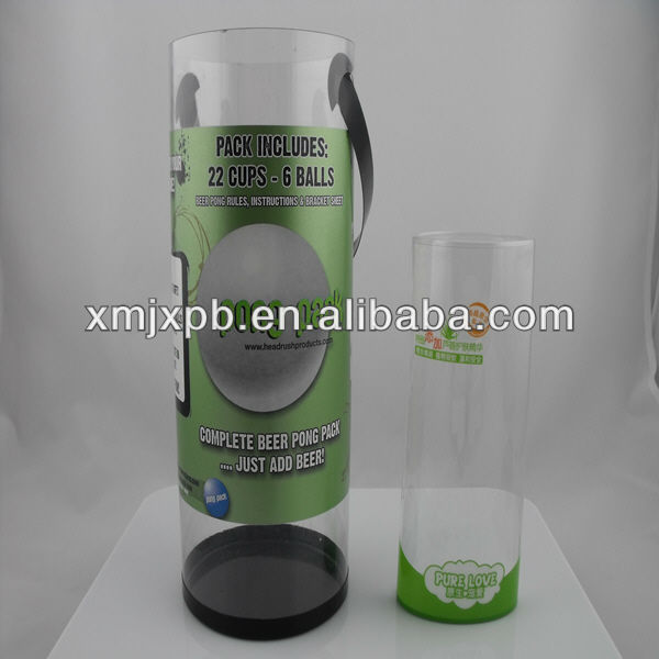 Clothing Plastic Packaing Design, Tube Clear Plastic Box