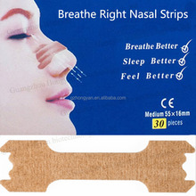 Factory wholesale Breathe Right Nasal Strips 55x16mm OEM