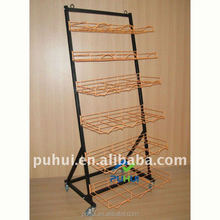 mobile metal wire store exposition hat display stand