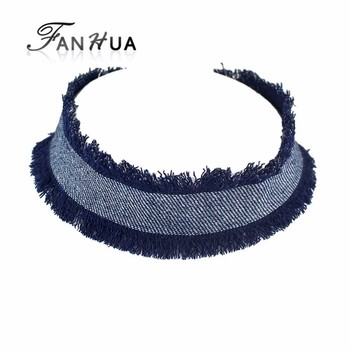 New Coming Blue Jean Wide Choker Necklace for Women