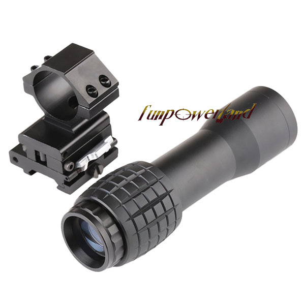 Funpowerland 4X Magnifier With FTS Flip to Side Mount for Scopes Sights