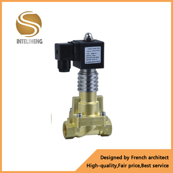 high temperature 300 degree hot water vapour brass solenoid valve