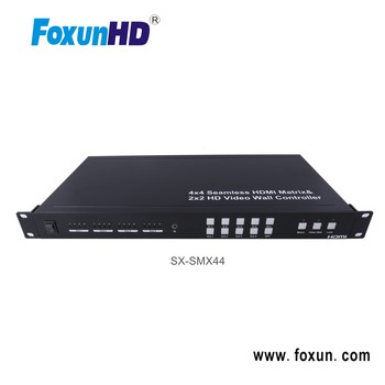 4X4 Seamless HDMI Matrix switch with 2x2 Video Wall Controller