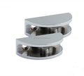 SS304/316 mirror Stainless Steel door Glass Clamp for bathroom swimming pool