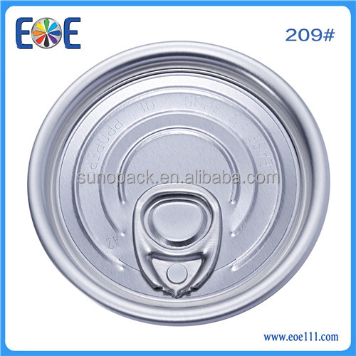 Manufacturer Yiwu eoe 209 #63mm dry food lid China eoe Easy open end