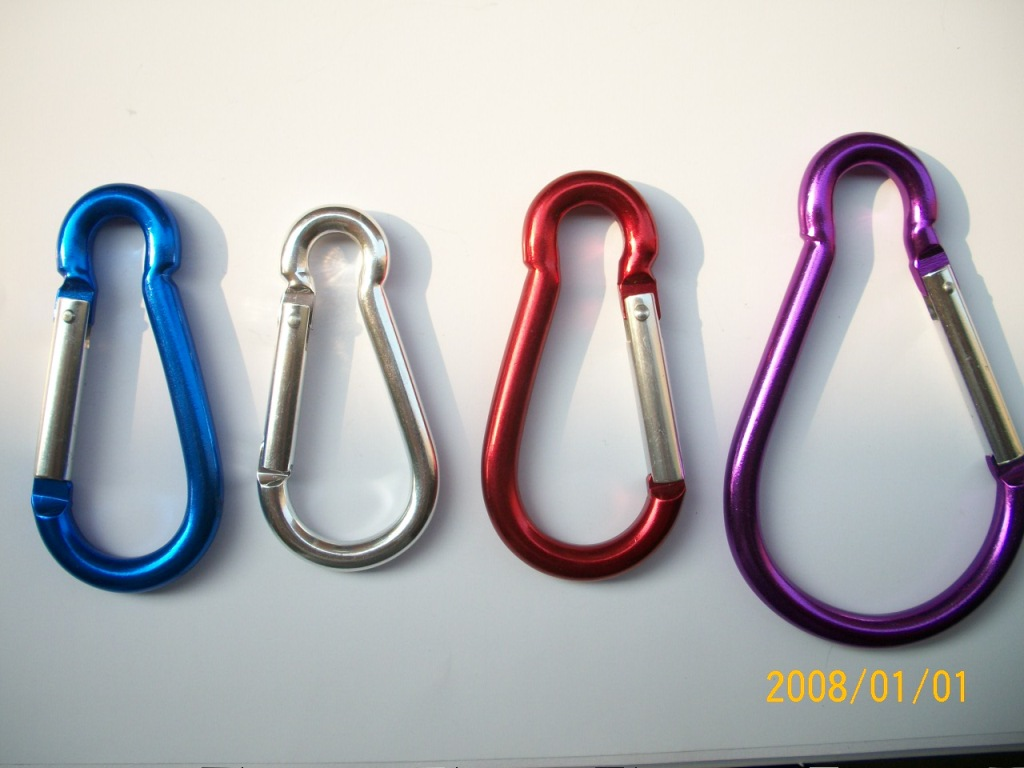 Wholesale  Colorful mini Aluminum Custom Carabiner