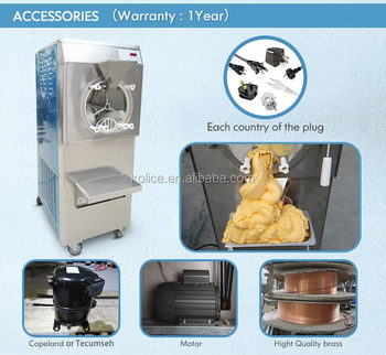 Commercial hard ice cream machine for sale