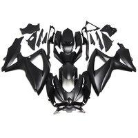 Injection Fairings For Suzuki GSXR600 GSXR750 K8 08 09 10 ABS Plastic Complete Motorcycle Fairing Kit Body Fittings Matte Black