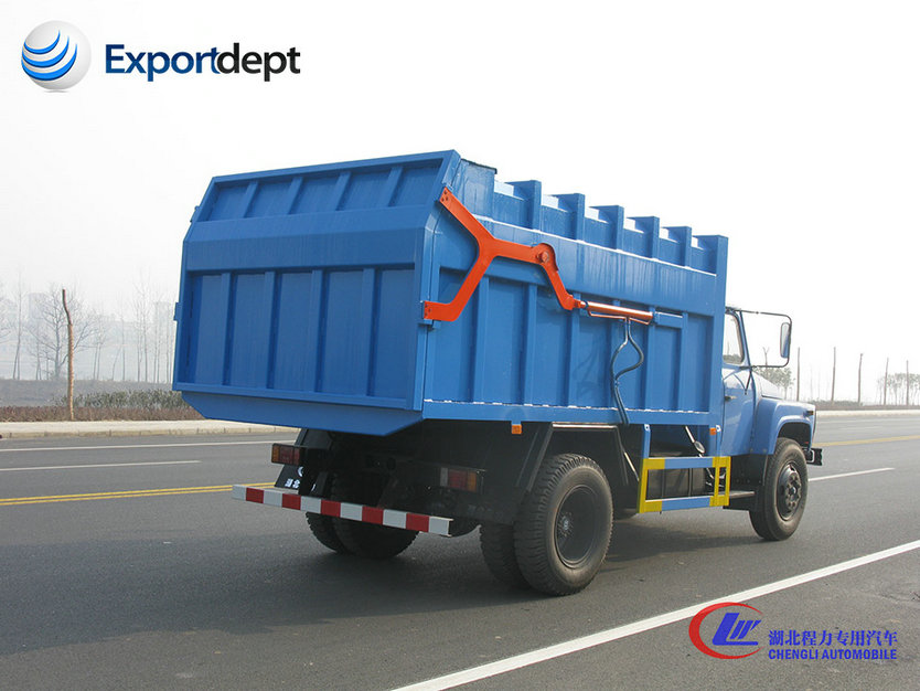 dongfeng used 4x2 hermetic compressed garbage truck for sale with factory price
