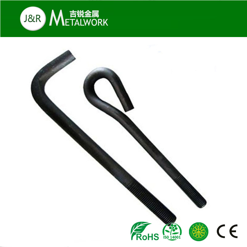 M24 M30 M20 hot dip galvanized gr 8.8 Gr 10.9 L foundation anchor bolt