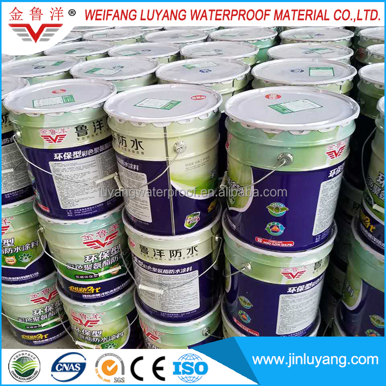 Eco-friendly Single Component Water Based Polyurethane Waterproof Coating for Balcony