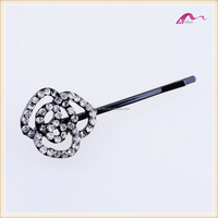 Charming Rose Flower Crystal Decorative Hair Clip For Bridal Accessories