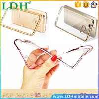 Luxury Ultra Thin Clear Crystal TPU Soft Mobile Phone Case For iPhone se 5 5s 6 6s Plus phone case for samsung GALAXY s7 s6 edge