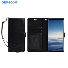 For Samsung Galaxy Note 8 Original Case Flip Wallet PU Leather Case With Wrist Belt for samsung galaxy note 8