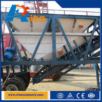 Mobile self loading simple mobile concrete mixing planthzs25 cheap best quality Engineer available after sales
