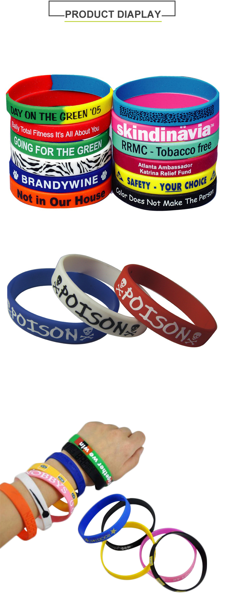 Cheap Custom Silicon Rubber Band - hand rubber band bracelets