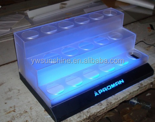 specicialized factory acrylic display LED display acrylic cosmetic display