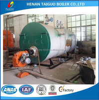 Diesel oil fired steam boiler with Baltur burner