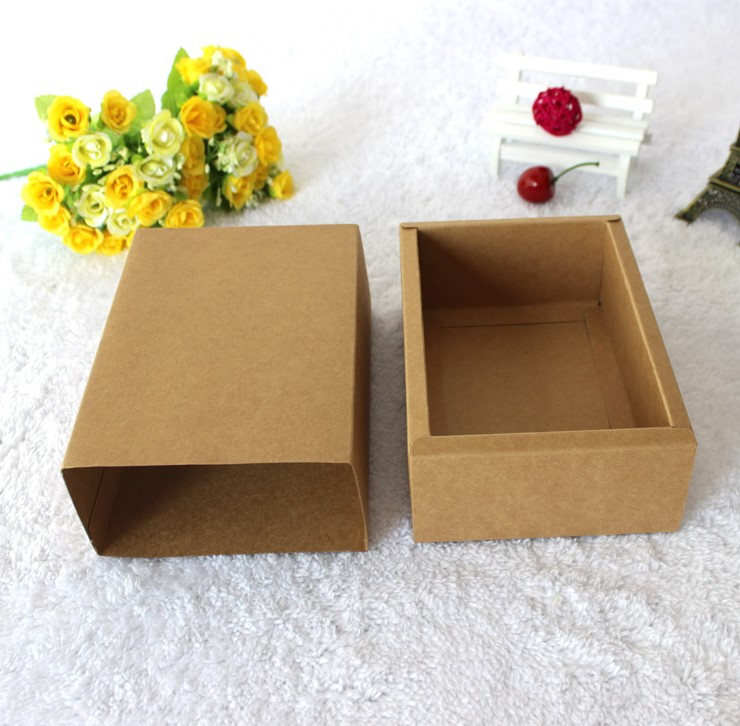 Alibaba big discount! Brown kraft natrual candle box, luxury candle box made in China