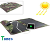 2200mA Hot selling solar cell phone charger bag on trip