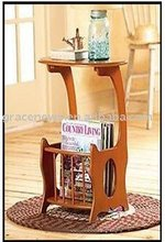 Oval Magazine Side Table