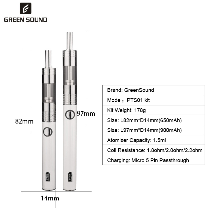china cheap electronic cigarette Android korea cig battery Micro 5-Pin PTS01 big vapor e cigarette