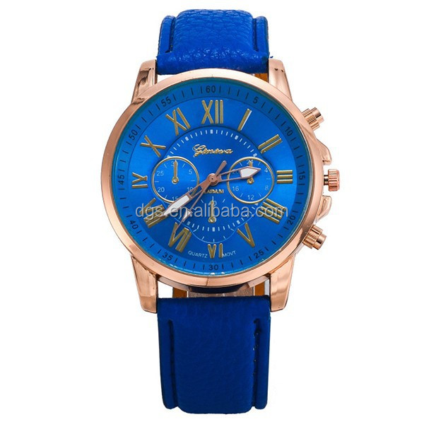 Colorful Fashion Literally Double Watches Leather Roman Capitals Watches Geneva Belt Watches