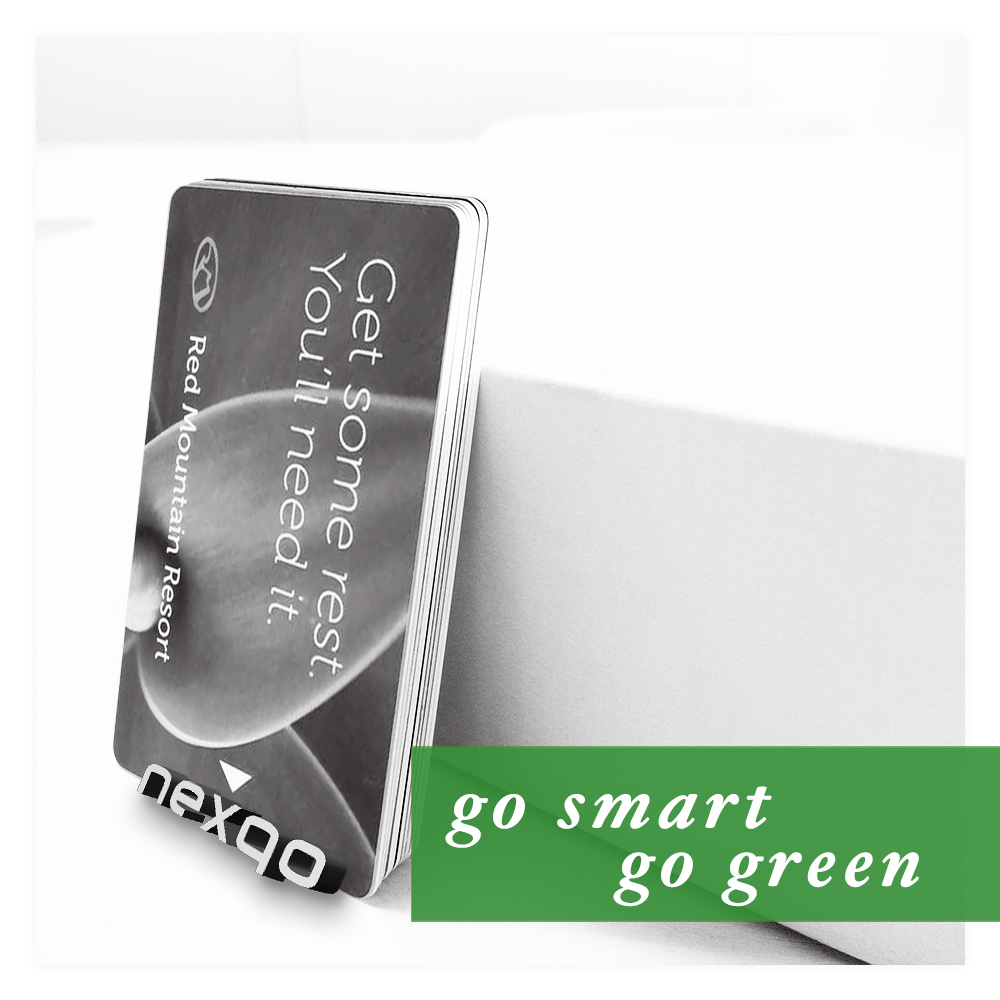 Wholesale Price Mirror Effect CR80 Size Printing RFID Hotel PVC Key Card