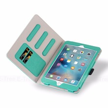 E-Tree Original for iPad mini leather case, folio pu leather flip cover for apple iPad mini 1 2 3 4 case