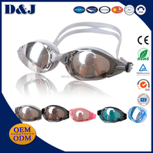 Best Sale Low Price Mirrored Coating PC Lens Swimming Goggles