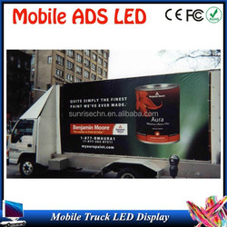first choice for ADS tools easy installation advertising p10outdoor mobile truck LED display with CE, ROHS certification