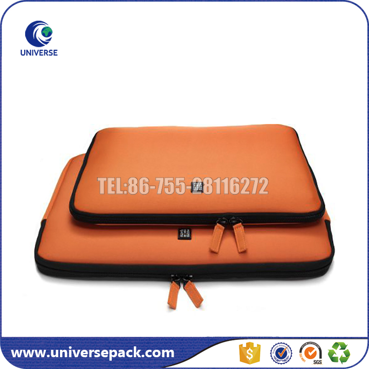 Wholesale eco-friendly stylish custom neoprene laptop sleeve with zipper