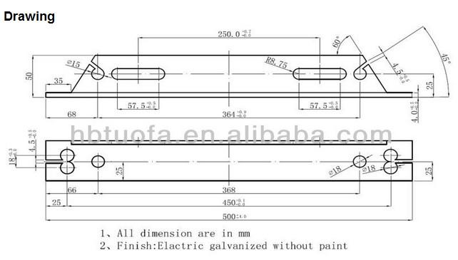 Utility Pole Cross Section Detail : Overhead line fittings cross arm u shaped hoop section