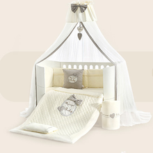 Crowned love my angel baby three-dimensional lovely embroidery cotton luxury baby bedding <strong>sets</strong>