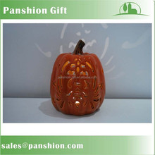 Ceramic harvest pumpkin with led light decoration