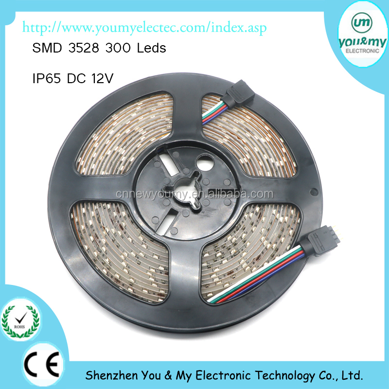 IP65 Waterproof 300leds/5M SMD 3528 RGB LED Strip Flexible Diode Tape 12V LED Ribbon 60LED/M Ledstrip for Home Decoration