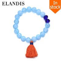 E-ELANDIS Jewerly Bracelet Crystal Tassel Resin Beaded Bracelet