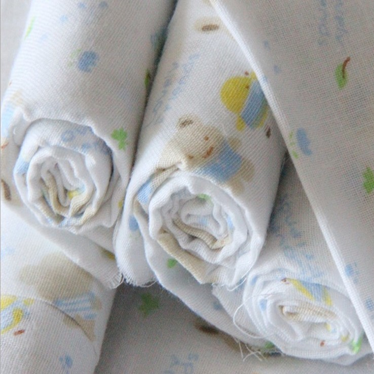 Double printed gauze fabric wholesale for baby buy gauze for Cheap baby fabric
