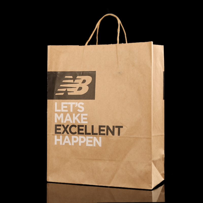 durable eco-friendly personalized brown paper bags,brown kraft paper packaging bags