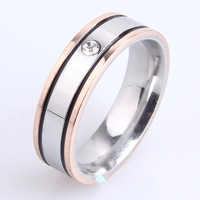 New Model Gold Plated Wedding Couple Ring Austrian Crystal Micro Inlay Engagement Ring