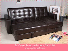 Leather Corner Group Sofa Bed
