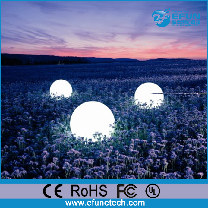 wireless control battery operated IP65 waterproof color changing indoor outdoor led glowing ball